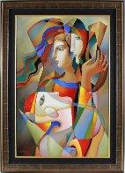 Silent Talk 2016 32x44 Original Painting by Oleg Zhivetin - 1
