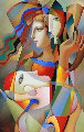 Silent Talk 2016 32x44 Original Painting - Oleg Zhivetin