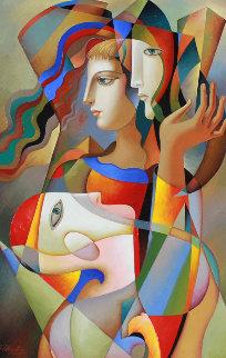 Silent Talk 2016 32x44 Original Painting by Oleg Zhivetin