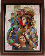 Happy Family 2016 39x49 Super Huge Original Painting by Oleg Zhivetin - 1