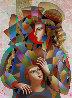 Happy Family 2016 39x49 Original Painting by Oleg Zhivetin - 0