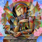 Poetry 2015 49x49 Original Painting - Oleg Zhivetin