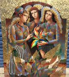 Three Graces 2016 68x58 Original Painting - Oleg Zhivetin