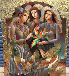 Three Graces 2016 68x58 Original Painting by Oleg Zhivetin