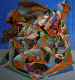 Untitled Painting 2002 48x48 Original Painting - Oleg Zhivetin