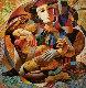Untitled AP 1990 Embellished Limited Edition Print - Oleg Zhivetin