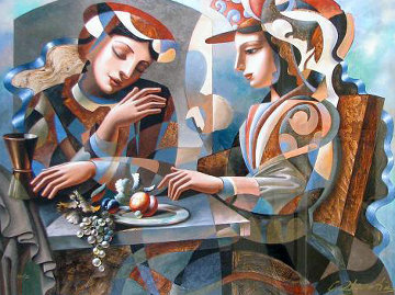 At the Table AP Limited Edition Print by Oleg Zhivetin