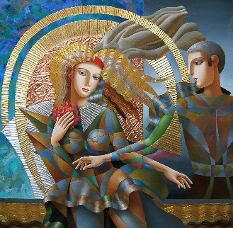 Dance 2018 48x48 Huge  Original Painting - Oleg Zhivetin