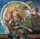 Dance 2018 48x48 Original Painting - Oleg Zhivetin