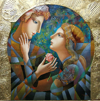 Tonight We Are Together 2018 36x36 Original Painting - Oleg Zhivetin