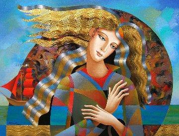 Red Sails 2018 30x40 Original Painting by Oleg Zhivetin