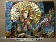 Three As One 2018 32x44 Original Painting by Oleg Zhivetin - 1