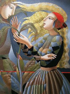 Date 2018 44x32 Original Painting - Oleg Zhivetin