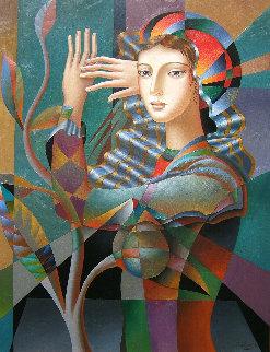 Gaze 2018 40x30 Original Painting by Oleg Zhivetin