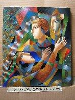 Three Faces 2018 35x30 Original Painting by Oleg Zhivetin - 1