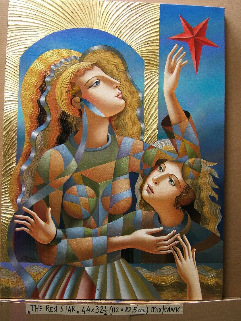 Red Star 2018 44x32 Super Huge Original Painting by Oleg Zhivetin