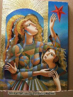 Red Star 2018 44x32 Original Painting - Oleg Zhivetin