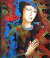 In the Shadow 2018 36x24 Original Painting - Oleg Zhivetin