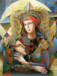 Their Circle 2018 40x30 Original Painting - Oleg Zhivetin