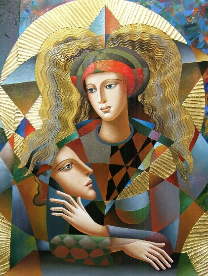 Their Circle 2018 40x30 Original Painting by Oleg Zhivetin