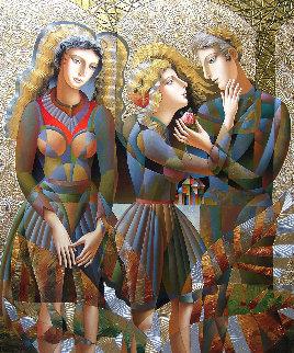 A Rose For Her 2018 77x64 Huge! Original Painting - Oleg Zhivetin