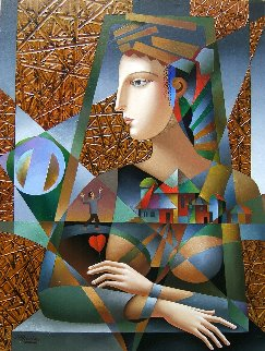 Honey, I'm Home! 2018 40x30 Huge Original Painting - Oleg Zhivetin