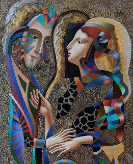 Untitled Painting 2008 60x30 Original Painting - Oleg Zhivetin