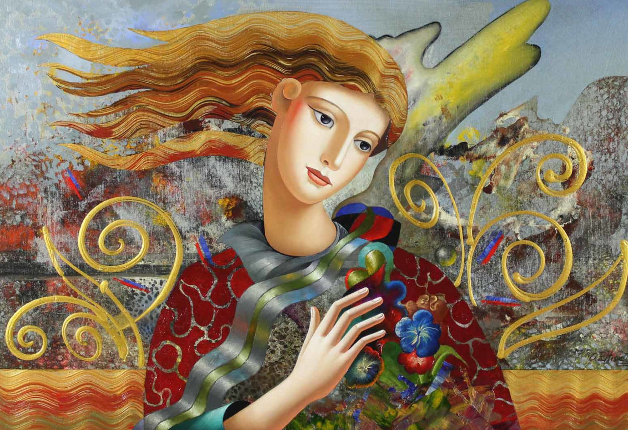Soft Breeze 32x44 Super Huge Original Painting by Oleg Zhivetin