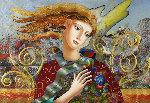 Soft Breeze 32x44 Original Painting - Oleg Zhivetin