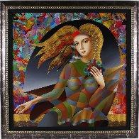 Flower Child 43x43 Super Huge Original Painting by Oleg Zhivetin - 1