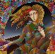 Flower Child 43x43 Original Painting by Oleg Zhivetin - 0
