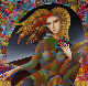 Flower Child 43x43 Original Painting - Oleg Zhivetin