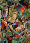 Strange Game 51x39 Original Painting - Oleg Zhivetin