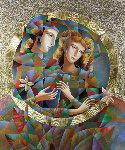 Two Flowers 52x62 Original Painting - Oleg Zhivetin