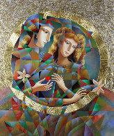 Two Flowers 52x62 Super Huge Original Painting by Oleg Zhivetin - 0