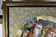 Two Flowers 52x62 Super Huge Original Painting by Oleg Zhivetin - 3