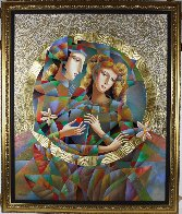 Two Flowers 52x62 Super Huge Original Painting by Oleg Zhivetin - 1