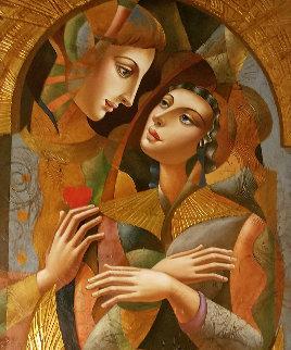 Angel Wings 2008 80x35 Huge Original Painting - Oleg Zhivetin