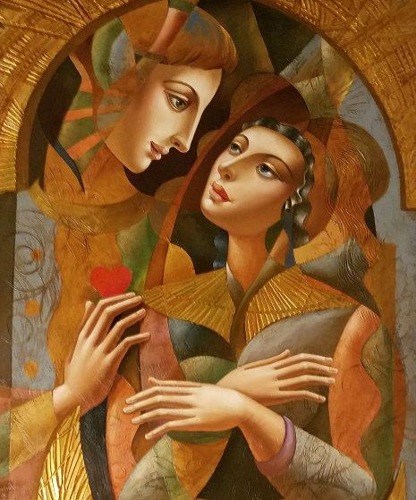 Angel Wings 2008 80x35 Super Huge Original Painting by Oleg Zhivetin