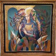 Delicate Flower 52x52 Super Huge Original Painting by Oleg Zhivetin - 1