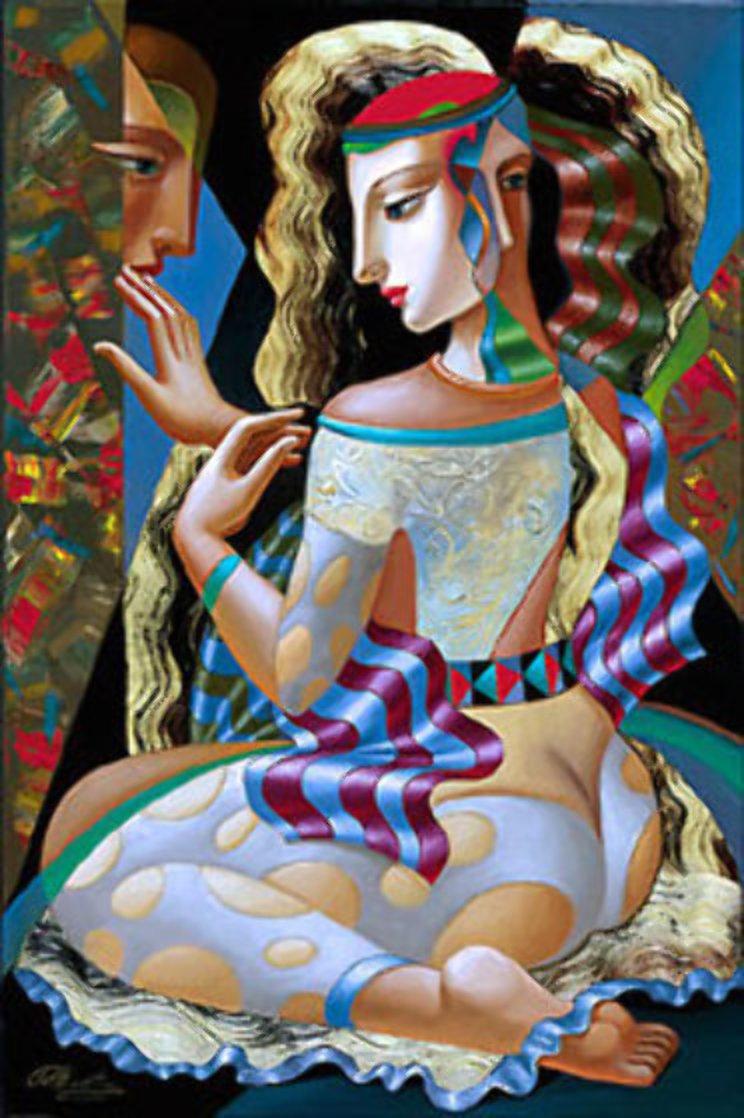 Man on Her Mind Embellished 2001 Limited Edition Print by Oleg Zhivetin