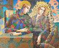 Perfect Solitude 2010 45x44 Original Painting - Oleg Zhivetin
