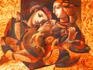 Trust 2000 49x61 Original Painting - Oleg Zhivetin