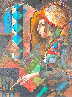 Artist Touch 57x45 Huge Original Painting - Oleg Zhivetin