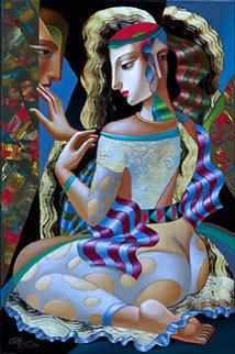 Man On Her Mind 2001 Embellished Limited Edition Print by Oleg Zhivetin