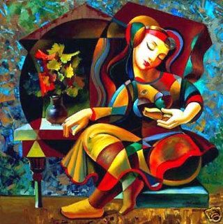 Poem Reader 1999 Limited Edition Print by Oleg Zhivetin