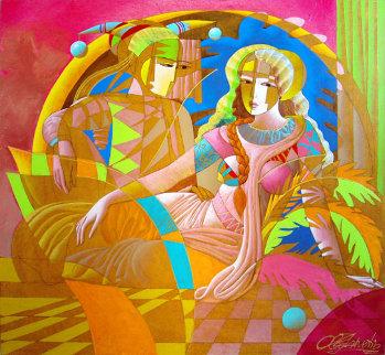 Tranquil Love 52x48 Original Painting - Oleg Zhivetin