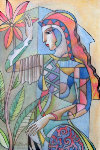 Pleasant Daydreams Watercolor 2007 15x11 Watercolor - Oleg Zhivetin