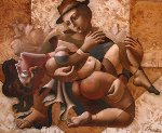 Embrace Thee 2003 59x71 Original Painting - Oleg Zhivetin