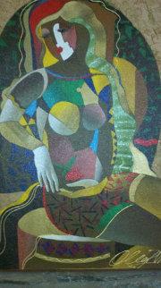 Day Dreaming 1997 30x24 Original Painting - Oleg Zhivetin